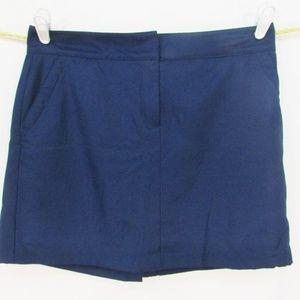 IZOD Golf Womens Skort Sz 12 Navy Blue Tennis